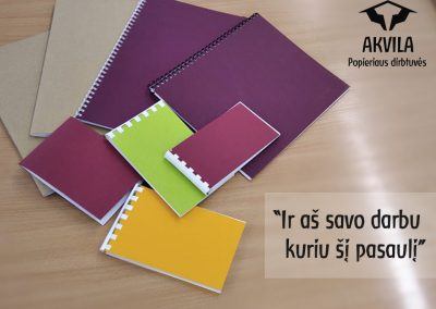 Akvila Popieriaus dirbtuvės pradeda gaminti užrašų knygutes, bloknotus, specializuotus sąsiuvinius Valdorfo pedagogikos mokykloms